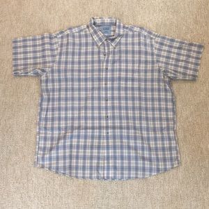 LLBean Short-Sleeve Button Down, Size XXL